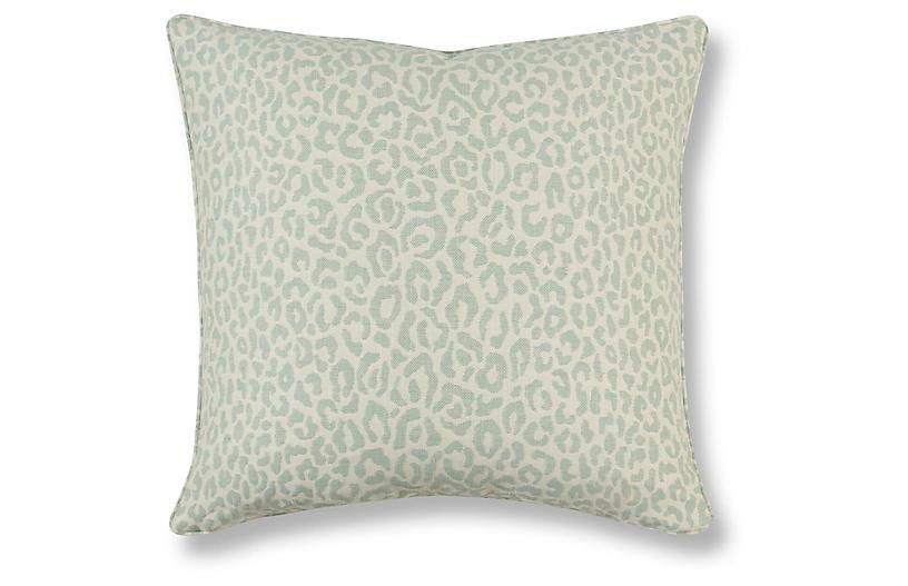 Felino 20x20 Pillow, Aquamarine