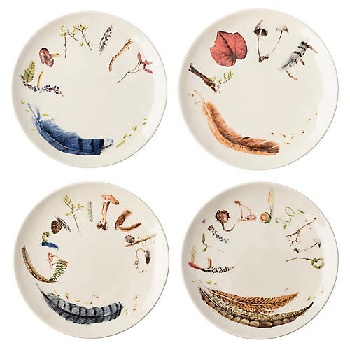 Asst. of 4 Forest Walk Fruit Plates, Multi