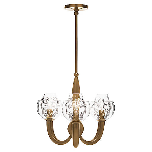 Florence Paris Double-Shade Chandelier, Brass
