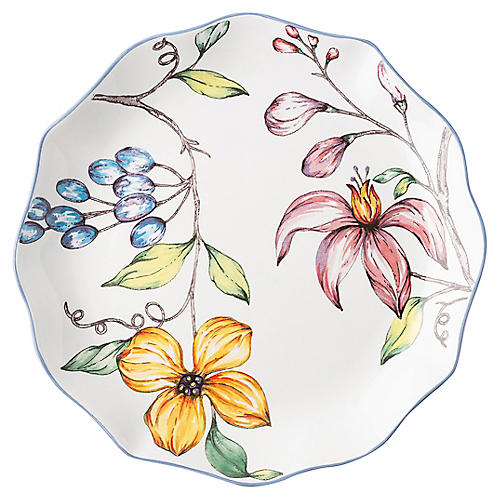 Floretta Salad Plate, White/Multi