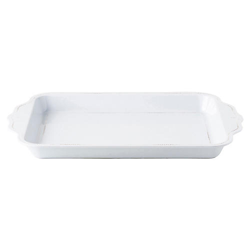 Berry & Thread Melamine Tray, Whitewash