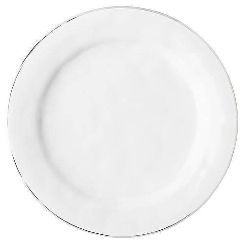 Puro Platinum-Rim Dinner Plate, White