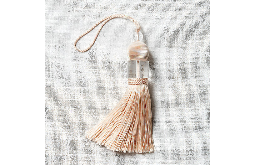 Deco Key Tassel, Blush