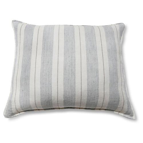 Laguna 28x36 Pillow, Ocean/Natural Linen