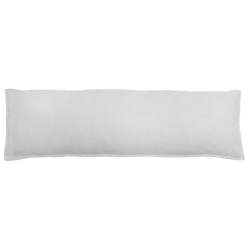 Montauk 18x60 Body Pillow, White Linen