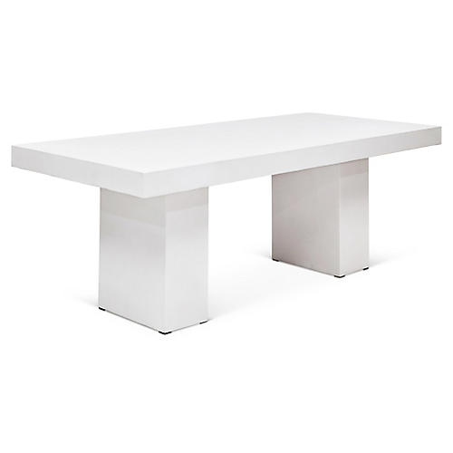 Magdalena Dining Table, Ivory