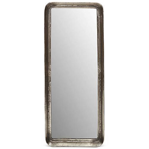 Neri Wall Mirror, Antiqued Silver