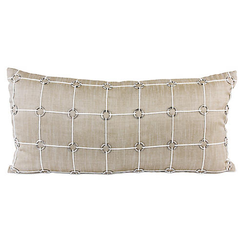 Uma 14x30 Lumbar Pillow, Gold Linen