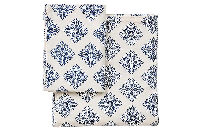 Renaissance Sheet Set, Blue