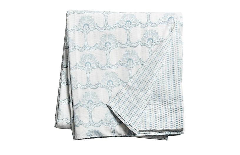Saans Duvet Cover, Aqua