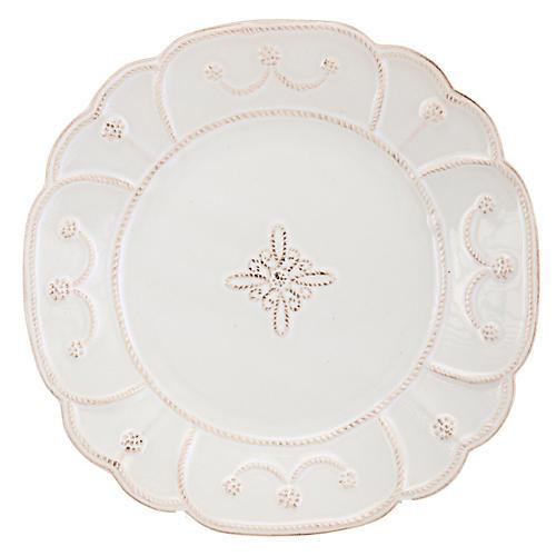 Jardins du Monde Dessert Plate, White