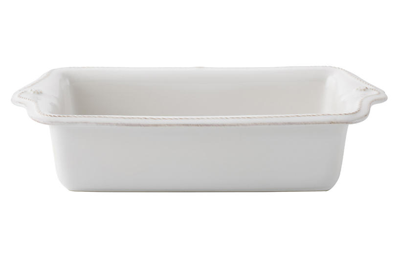 Berry & Thread Loaf Pan, White
