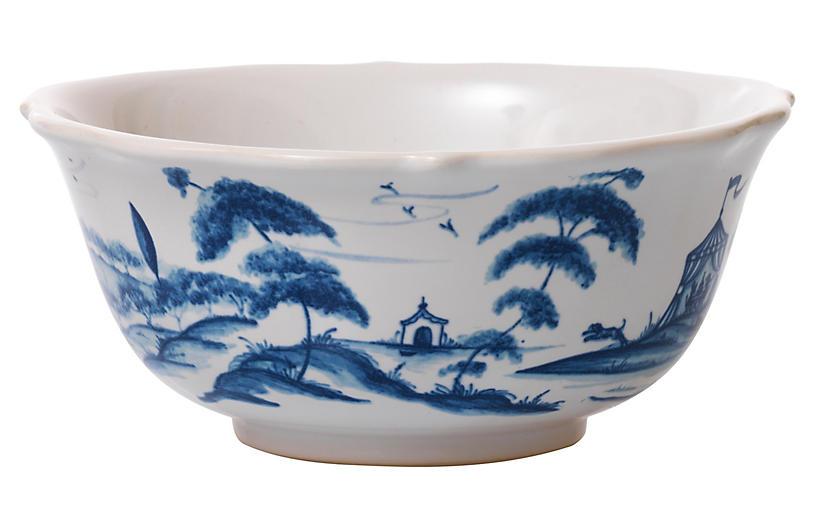 Hen House Cereal Bowl, Delft Blue