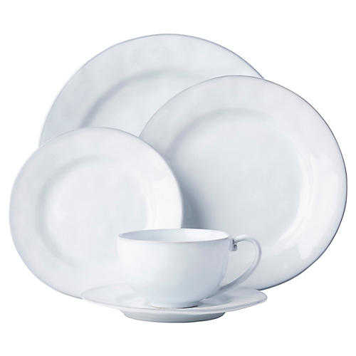 5-Pc Quotidien Place Setting, White Truffle