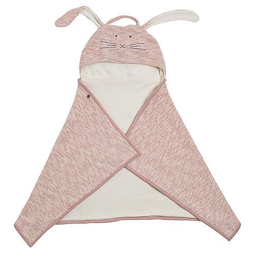 Organic Cotton Bunny Travel Blanket, Blush
