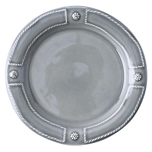 Berry & Thread Cocktail Plate, Gray