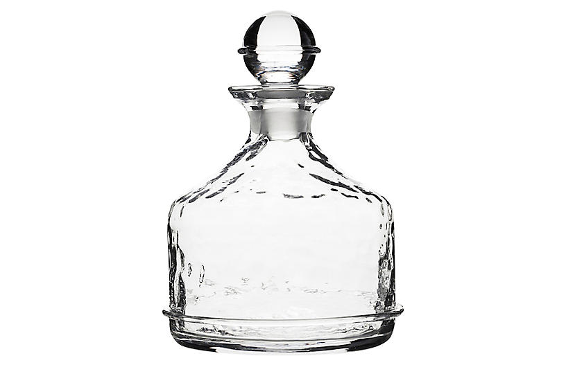 Carine Whiskey Decanter, Clear