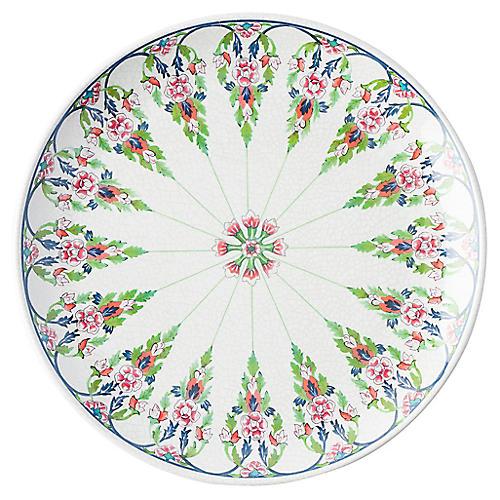 Melamine Lalana Floral Dinner Plate, White/Multi