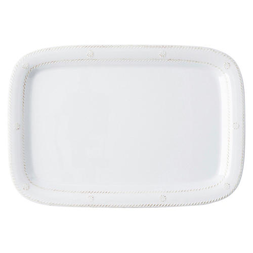 Berry & Thread Melamine Serving Tray, White