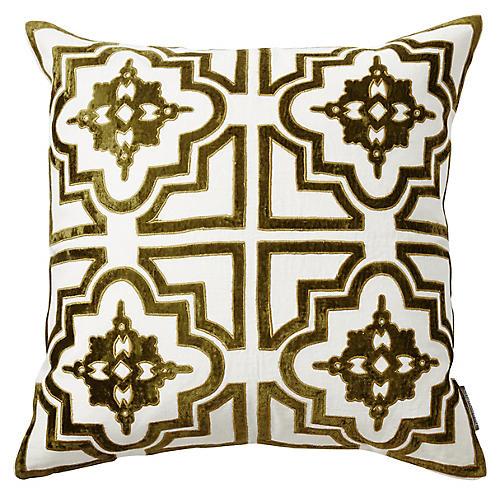 Belgrove 20x20 Pillow, Green Velvet