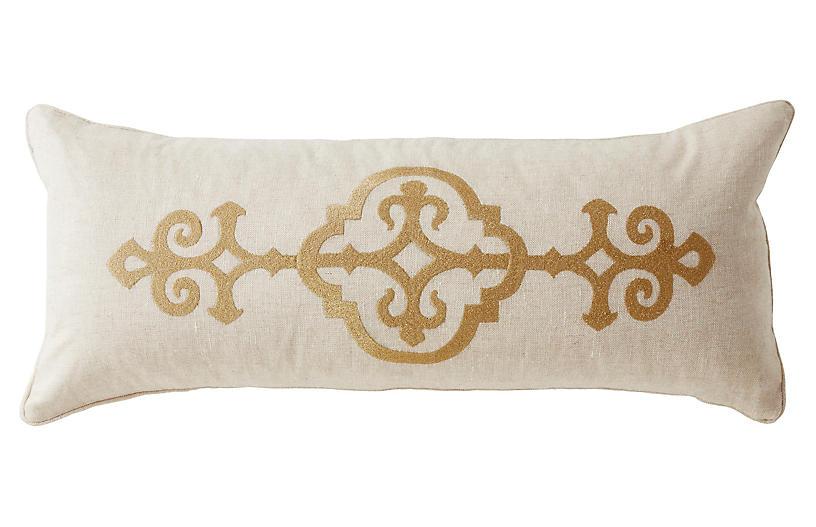 Fitzrovia 14x32 Linen Pillow, Beige