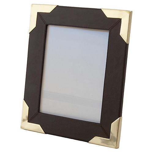 Derby Frame, Chocolate/Brass