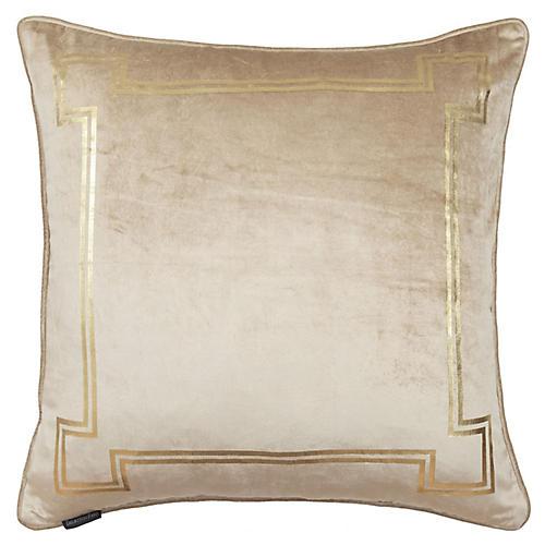 Aria 24x24 Pillow, Taupe Velvet