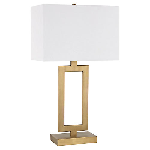 Sera Table Lamp, Antiqued Brass