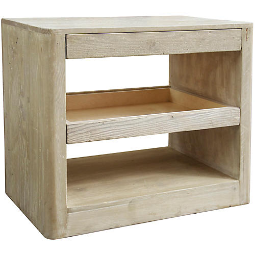 Mayito Side Table, Graywash