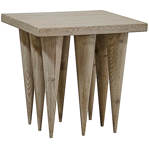 Hawthorn Side Table, Graywash