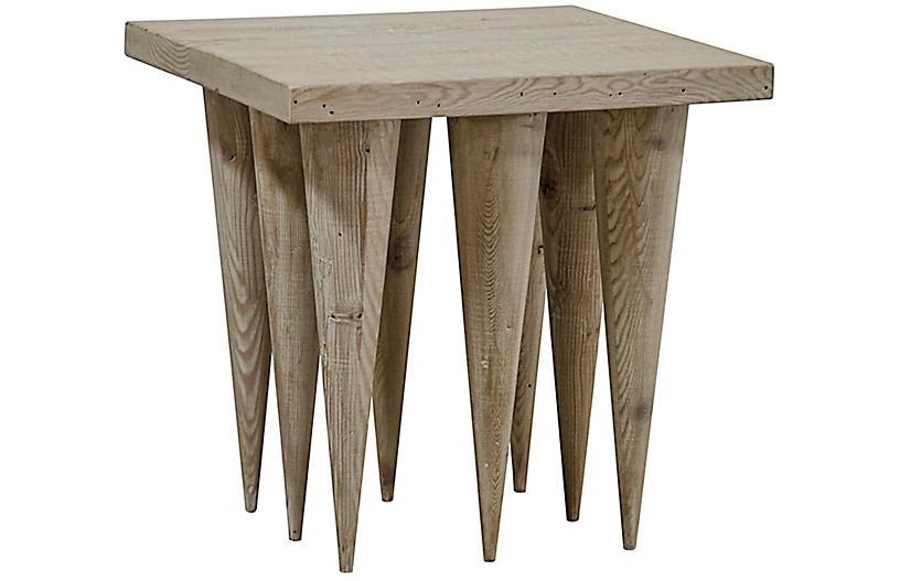 Hawthorn Side Table, Graywash