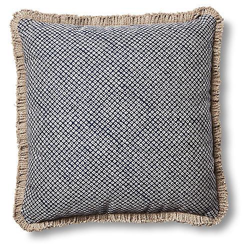 Mila 20x20 Pillow, Indigo