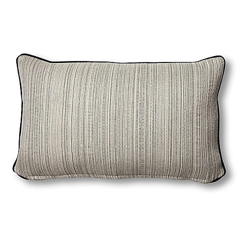 Lowell 12x20 Lumbar Pillow, Natural/Black