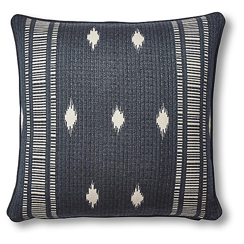 Kivi 20x20 Pillow, Indigo/Natural Sunbrella