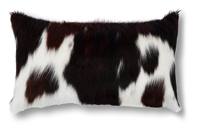 Cloud Lumbar Pillow, Brown/White