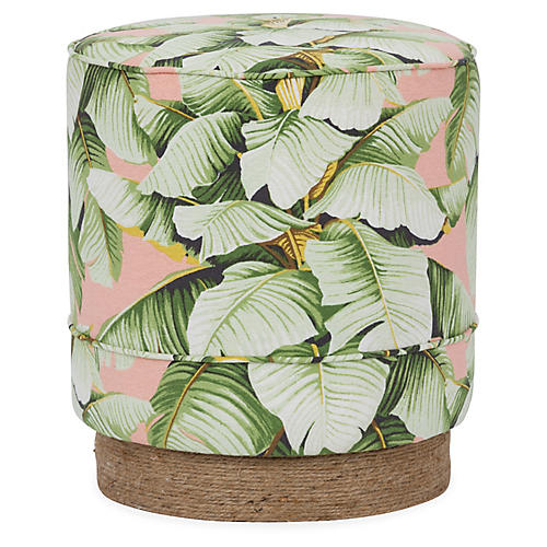 Pepper Stool, Blush Palm