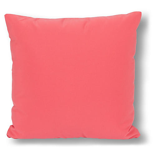 Two-Tone 20x20 Outdoor Pillow, Coral/Blush