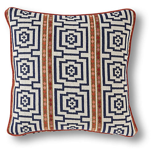 Tolleson 19x19 Pillow, Navy/Multi