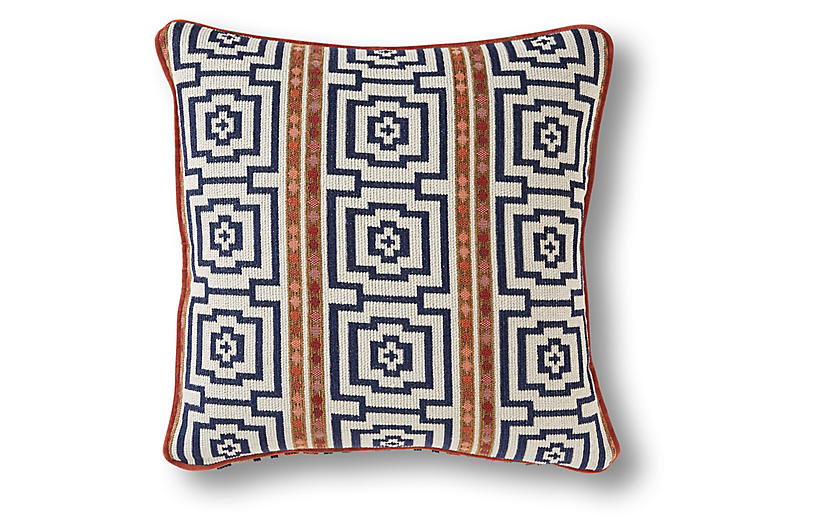 Tolleson 19x19 Pillow, Navy
