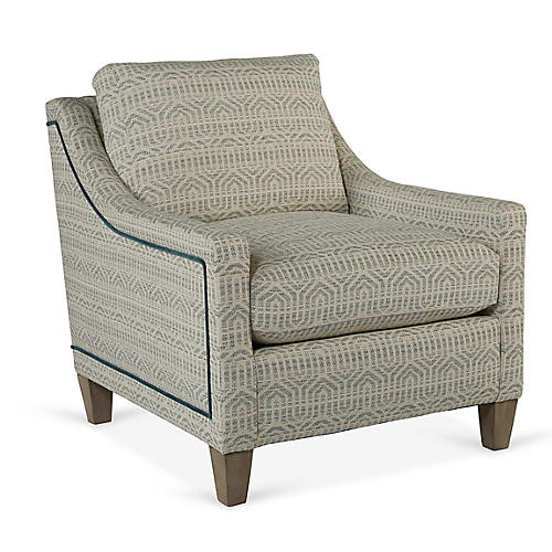 Abby Accent Chair, Seafoam