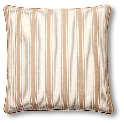 Ojai 19x19 Pillow, Natural/White