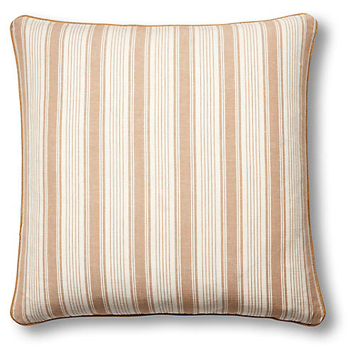 Ojai 19x19 Pillow, Natural/White
