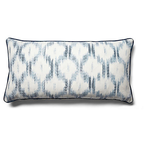 Santa Monica 14x28 Lumbar Pillow, Indigo