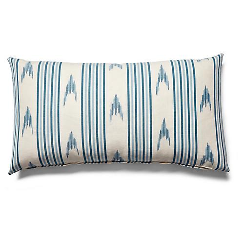 Santa Barbara 12x23 Lumbar Pillow, Indigo