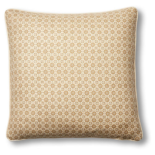 Palisades 19x19 Pillow, Khaki Linen