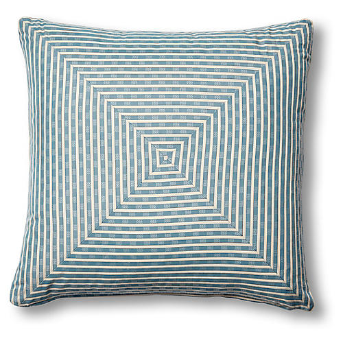 Beverly 19x19 Mitered Pillow, Indigo