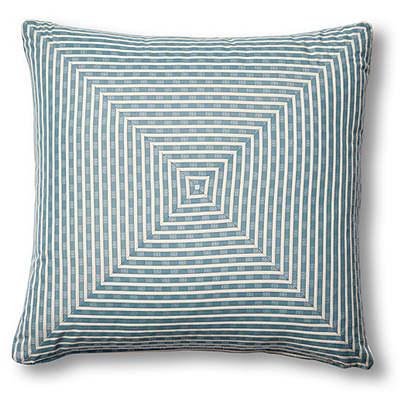 Beverly 19x19 Mitered Pillow, Indigo