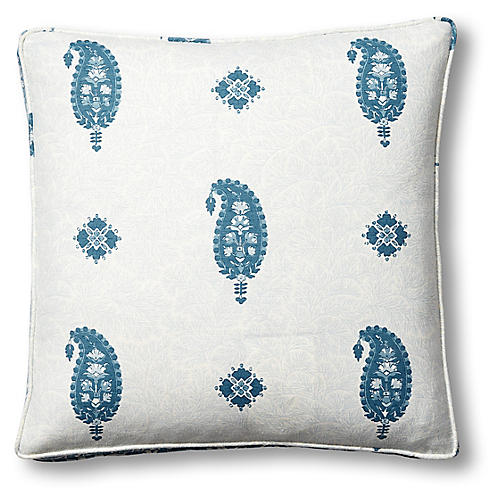 Ojai 19x19 Box Pillow, Indigo Linen