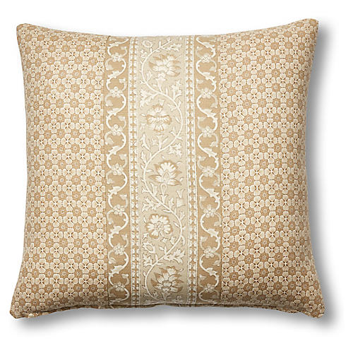 Ojai Pillow, Natural Stripe