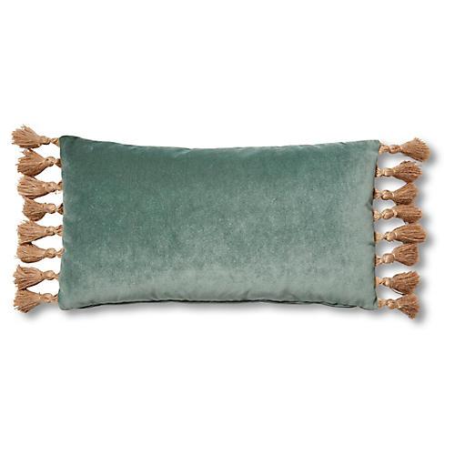 Lou 12x23 Lumbar Pillow, Jade Velvet